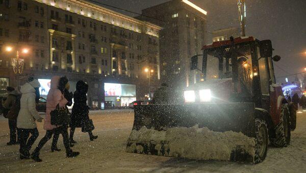 Снегопад в Москве. Январь 2016