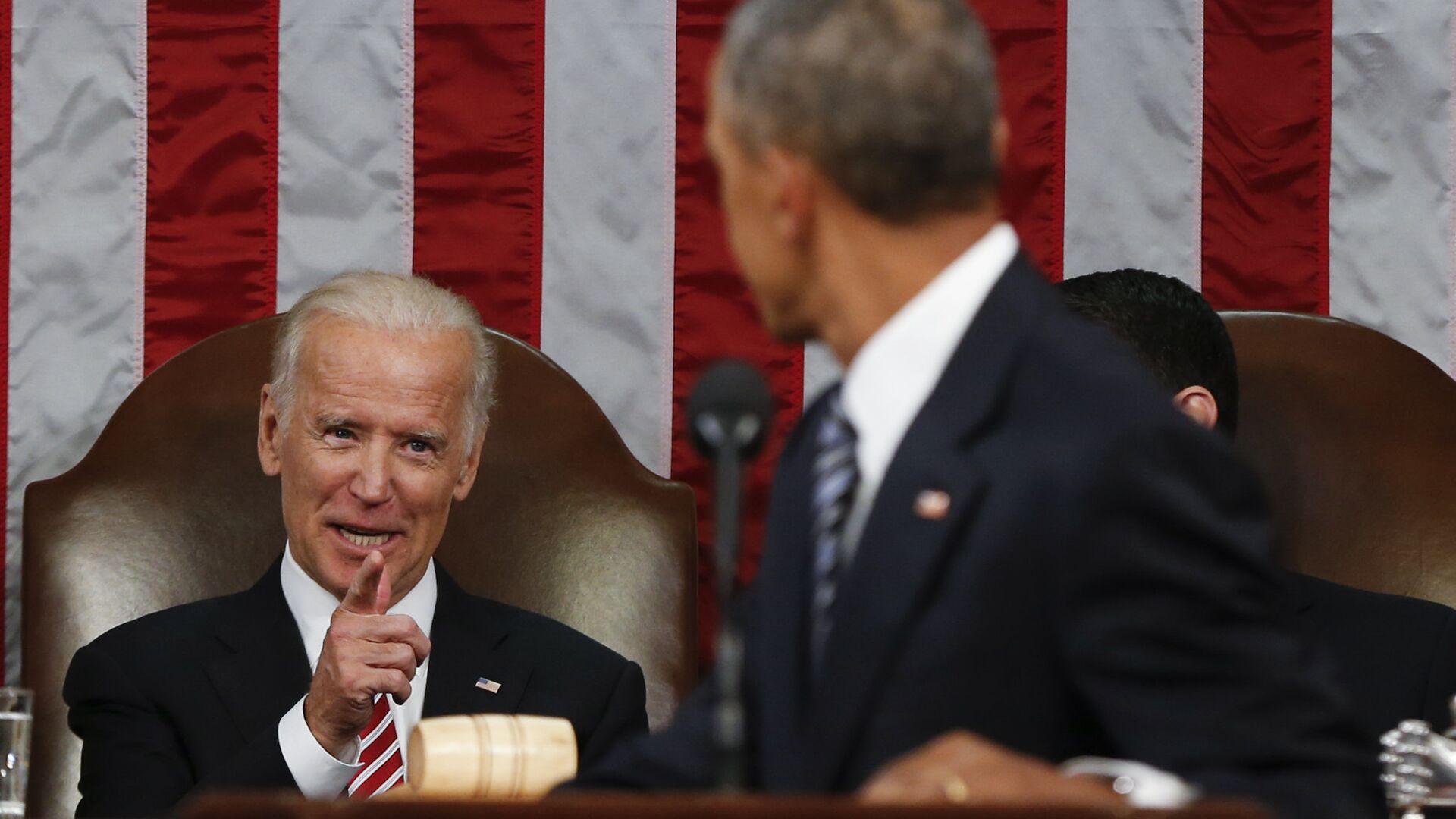 Барак Обама и Джо байден - РИА Новости, 1920, 20.01.2021