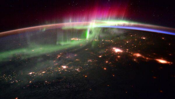 Северное сияние сфотографировали из космоса