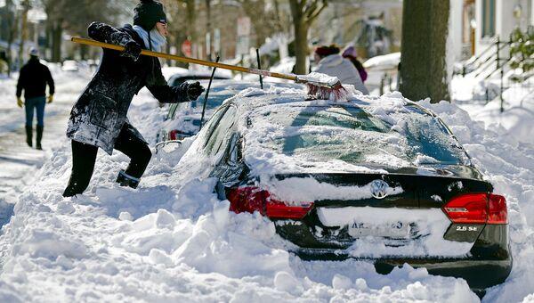Снегопад в США. Архивное фото