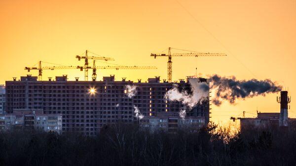 Закат солнца в Москве