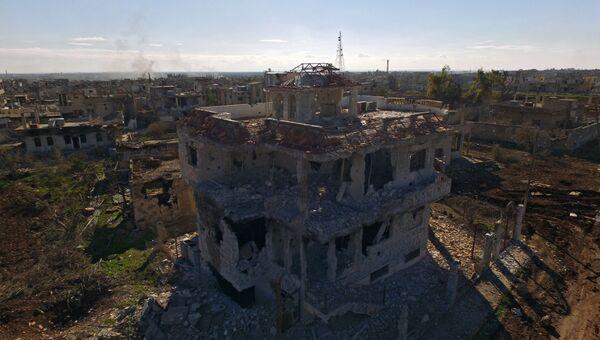 Освобожденный от террористов ИГ город Шейх-Мискин в сирийской провинции Дераа. Архивное фото