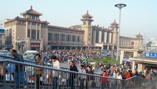 На вокзале в Пекине. Архивное фото