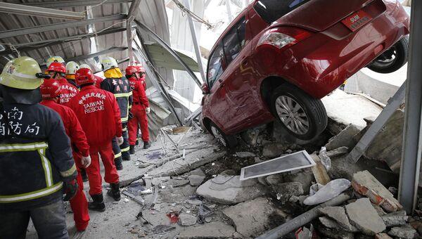 Последствия землетрясения на Тайване, Архивное фото.