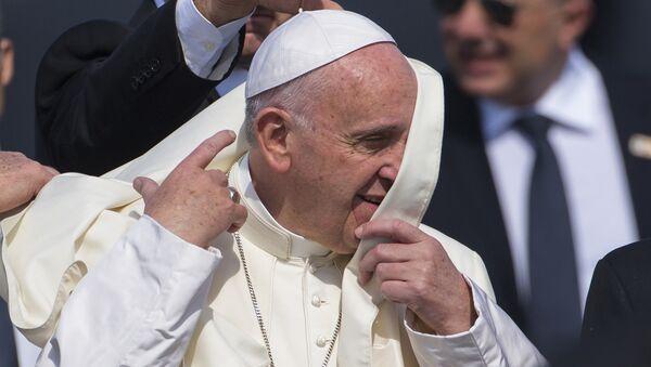 Папа Римский Франциск в международном аэропорту имени Хосе Марти в Гаване, 12 февраля 2016