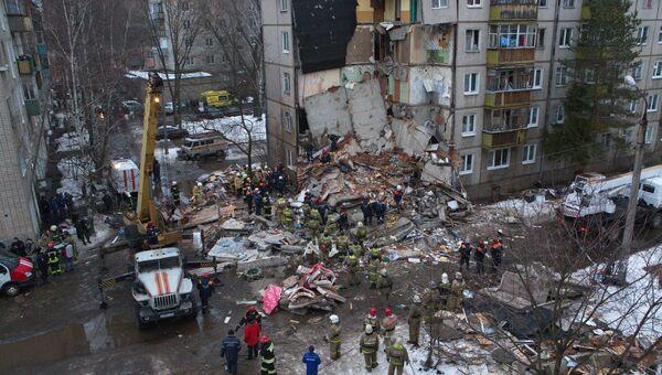 На месте взрыва газа в Ярославле. Архивное фото