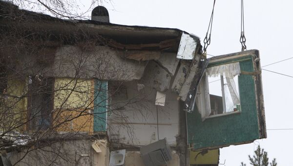 Взрыв бытового газа во Фрунзенском районе города Ярославля. Архивное фото