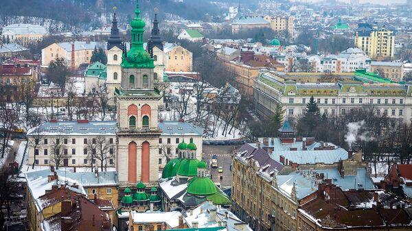 Вид на Львов, Украина