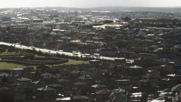 Городской вид. Рейкьявик. Исландия. Архивное фото
