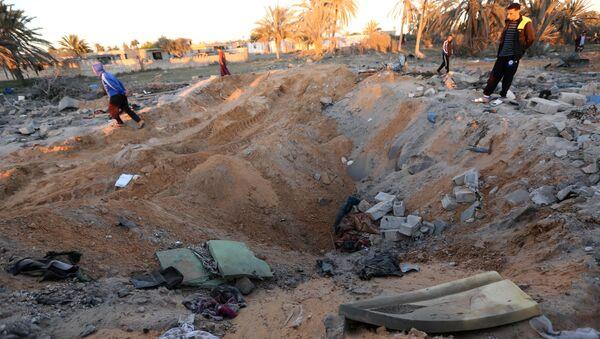 Последствия авиаударов в Ливии. Архивное фото