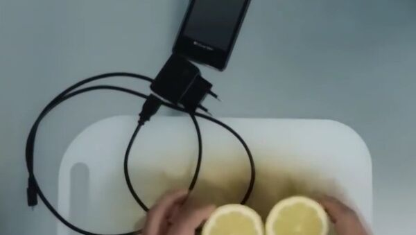 Зарядка телефона при помощи лимона