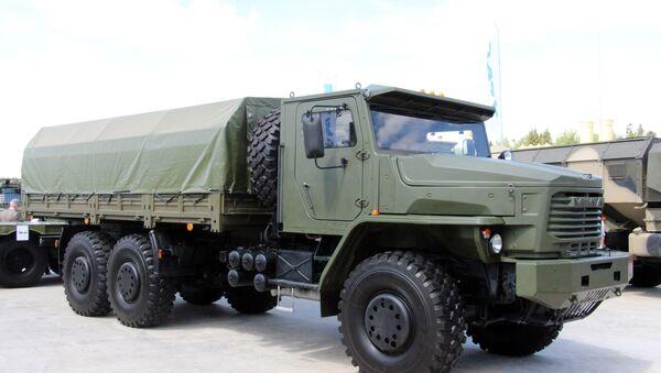 Военный автомобиль Торнадо-У. Архивное фото