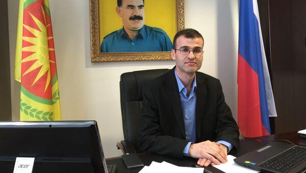 Глава представительства сирийского Курдистана в Москве Роди Осман. Архивное фото