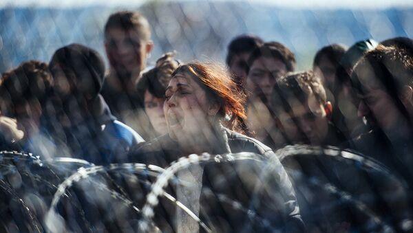Беженцы на границе Греции и Македонии. Март 2016