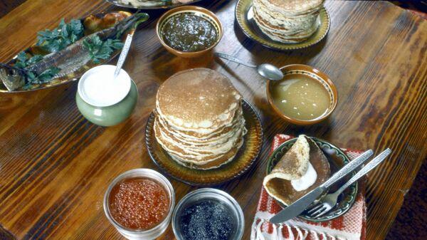 Русские блины в ресторане Славянский базар