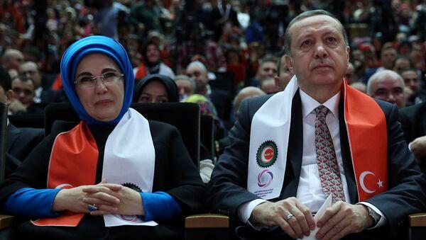 Президент Турции с супругой Эмине. Архивное фото