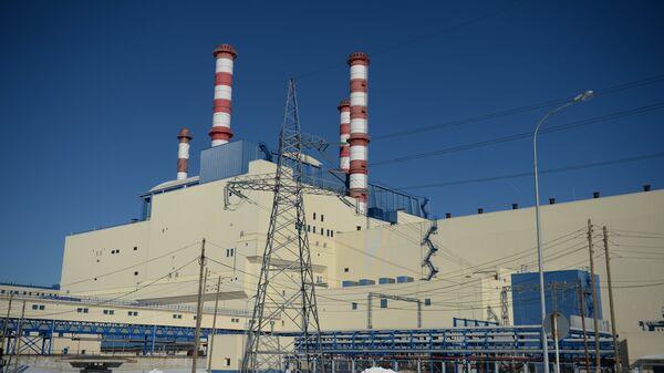 Здание 4-го энергоблока с реактором БН-800 Белоярской АЭС в городе Заречный Свердловской области