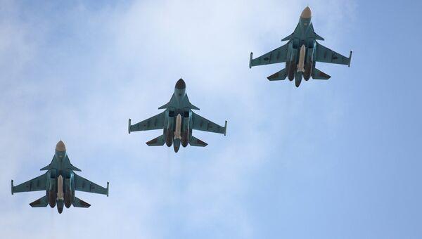 Вылет самолетов ВКС  России в Сирии. Архивное фото