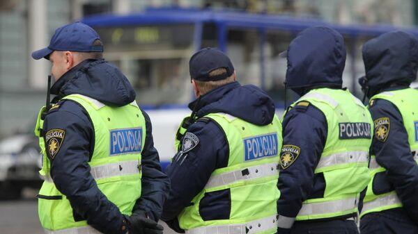 Латвийские полицейские. Архивное фото