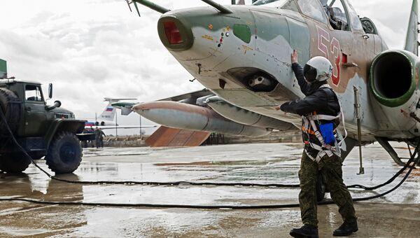 Самолеты ВКС России на авиабазе Хмеймим в Сирии. Архивное фото