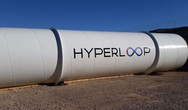Разработки компании Hyperloop TechnologiesТруба компании Hyperloop Technologies. Архивное фото