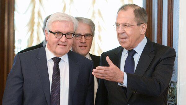 Министр иностранных дел России Сергей Лавров и министр иностранных дел Германии Франк-Вальтер Штайнмайер. Архивное фото