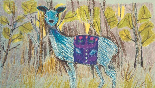 Рисунок Насти Козаченко к сказке Голубая важенка