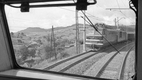 Железная дорога на участке Львов – Мукачево
