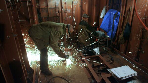 ОАО Прибалтийский судостроительный завод Янтарь в Калининграде. Архивное фото