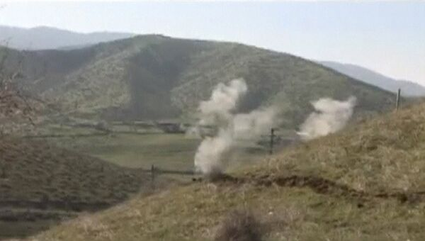 Последствия обстрела в Нагорном Карабахе. Архивное фото