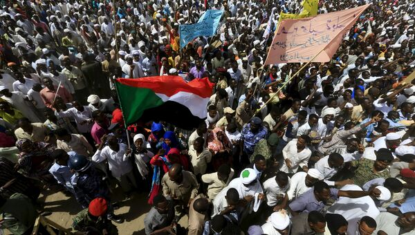 Митинг в Дарфуре