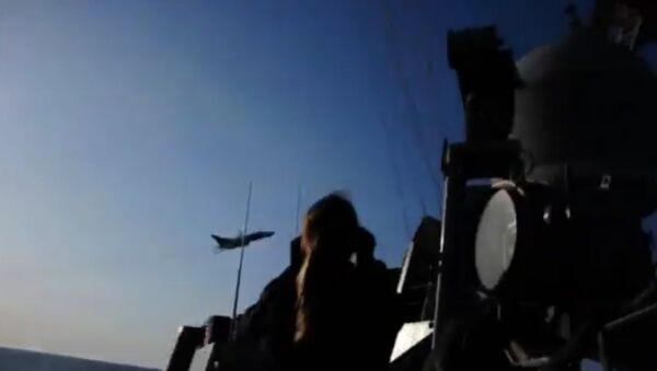 ВМС США опубликовали видео пролета Су-24 над эсминцем USS Donald Cook