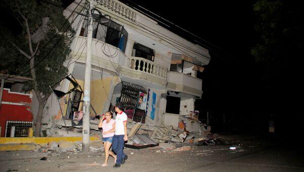 Последствия землетрясения в Эквадоре. Апрель 2016