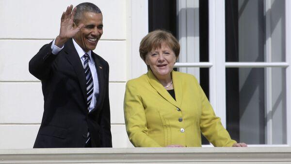 Барак Обама и Ангела Меркель в Ганновере. 24 апреля 2016