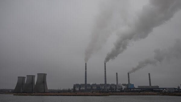 Старобешевская ТЭС, входящая в состав ПАО Донбассэнерго. Архивное фото
