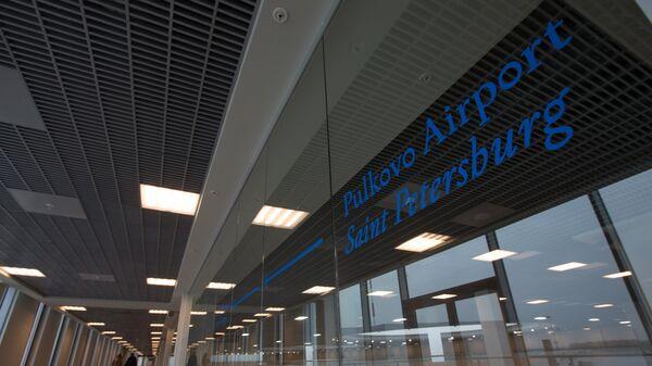 Терминал аэропорта Пулково-1 в Санкт-Петербурге. Архивное фото