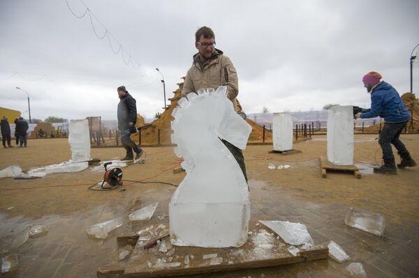 Чемпионат по скульптуре из песка в музее-заповеднике Коломенское