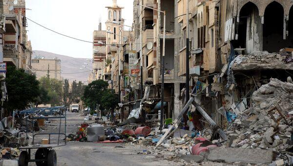 Разрушенные дома в Сирии. Архивное фото