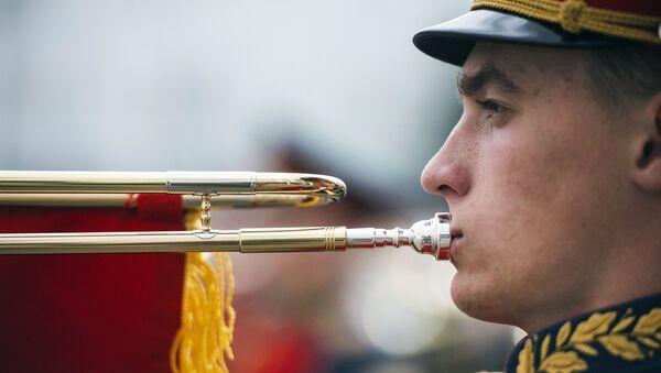 Смотр готовности сводного оркестра Московского гарнизона к военному параду