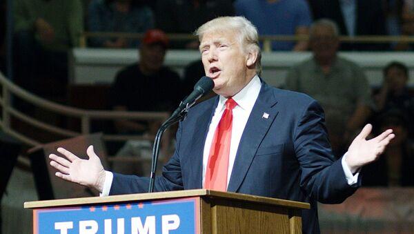 Кандидат в президенты США от Республиканской партии Дональд Трамп в штате Индиана. Архивное фото