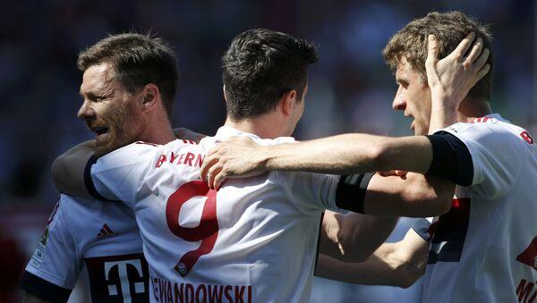 Чемпионат Германии по футболу. Мюнхенская Бавария одержала победу над Ингольштадтом