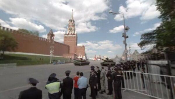RT снял панорамное видео генеральной репетиции парада