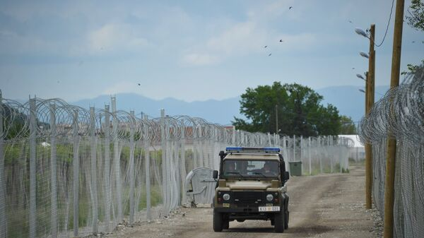 Греко-македонская граница в районе лагеря беженцев. Архивное фото