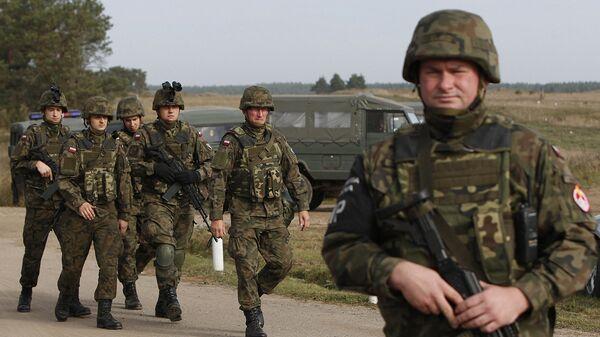 Польские военные во время учений на северо-востоке Польши