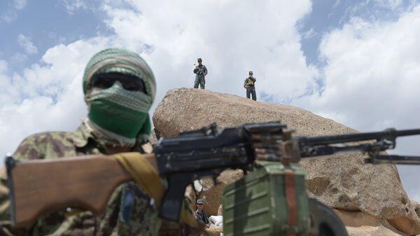 Сотрудники вооружённых сил Афганистана. Архивное Фото.