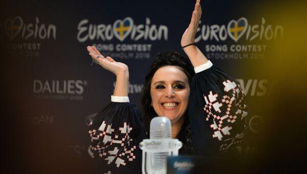 Джамала (Украина), победившая в финале международного конкурса Евровидение-2016. Архивное фото