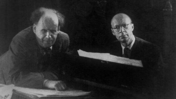 Кинорежиссер Сергей Михайлович Эйзенштейн и композитор Сергей Сергеевич Прокофьев, 1937 год