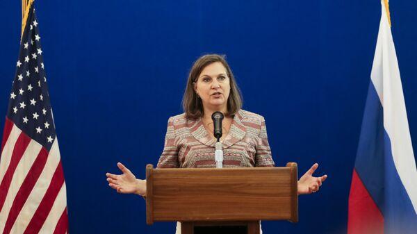 Помощник госсекретаря США Виктория Нуланд в Москве. Архивное фото