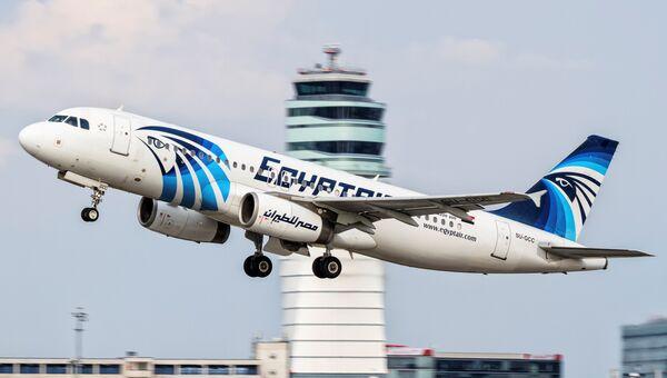 Фотография потерпевшего крушение пассажирского самолета A320 авиакомпании EgyptAir. Архивное фото