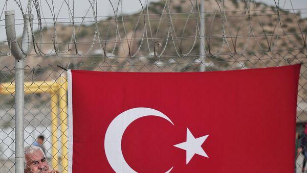 Турецкий флаг в провинции Газиантеп, Турция. Архивное фото